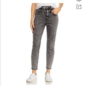 7 FOR ALL MANKIND corset jeans high rise cropped